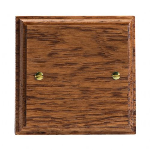 Varilight XKSBMO Kilnwood Medium Oak 1 Gang Single Blank Plate